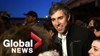 Beto O'Rourke holds counter-rally during Trump MAGA event