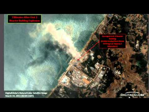 Japan Fukushima Nuclear Reactor Explosion Damage -  Aerial Views