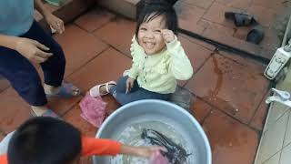 children catch fish I Funny Babies And Animals Videos Compilation