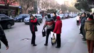 Road rage street fight in China