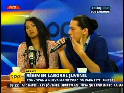 Viceministro de Promoción del Empleo presente en debate sobre régimen laboral juvenil - Parte II