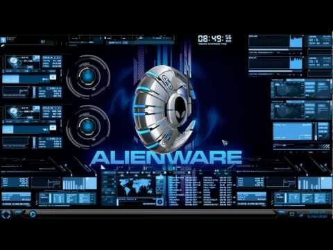 HUD Theme Evolution + Rainmeter + Alienware Media Skin & Wallpaper 2012