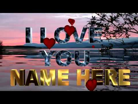 Love greetings: Animate Love greetings with your custom text, animated video greetings,