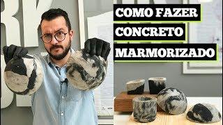COMO FAZER CONCRETO MARMORIZADO | DIY | Paulo Biacchi