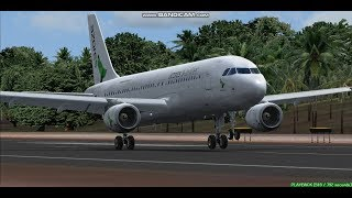 Azores Airlines A320  Pico Airport LPPI  Landing FS9