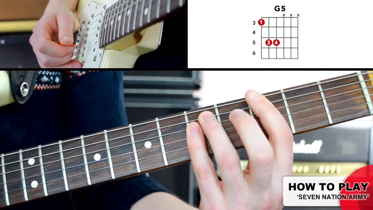how to play seven nation army on guitar