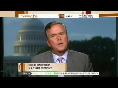 Jeb Bush Appears on MSNBC's Morning Joe to Promote Education Summit