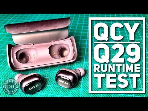 QCY Q29 Wireless Bluetooth 4.1 Dual Earphones - Runtime test