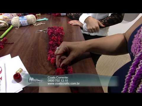 Mulher.com 10/06/2013 Noemi Fonseca - Cachecol e gola Parte 1/2