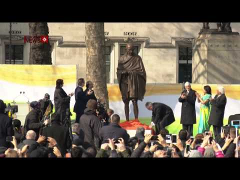 Gandhi Statue Unveiled in London's Parliament Square