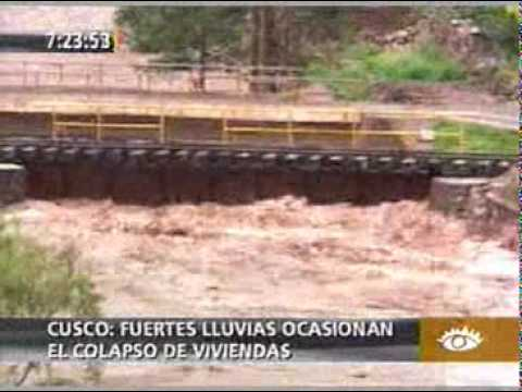 Intensas lluvias en Cusco