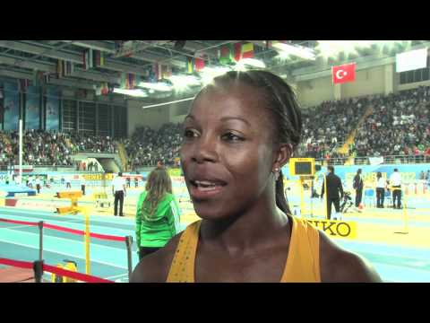 Veronica Campbell-Brown wins gold in 60m at Istanbul World Indoors 2012
