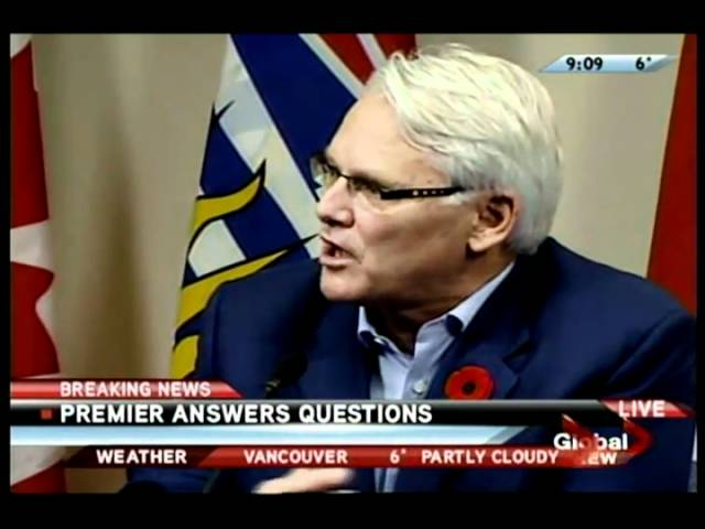 Premier Gordon Campbell Press Conference 1 of 2
