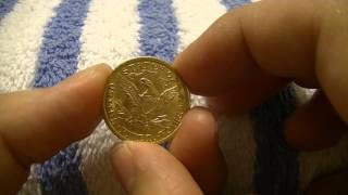 Gold Half Eagle Steal (first gold coin)