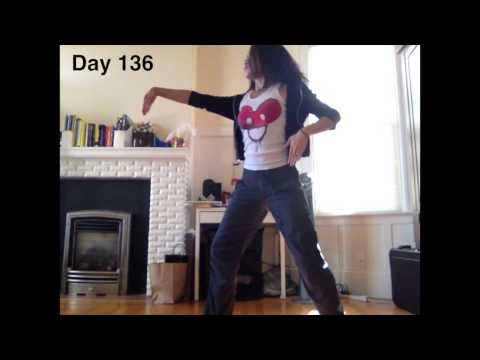 Girl Learns to Dance in a Year (TIME LAPSE) klip izle