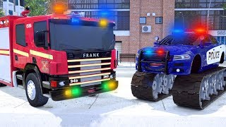 Fire Truck Frank in Situation - Wheel City Heroes (WCH) - Sergeant Lucas the Police Car New Cartoon