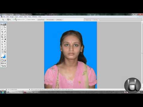 How to create a passport size photo in photoshop (A K Singh, Shekpura