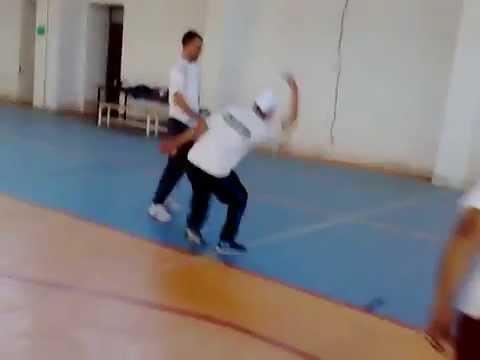 Wallball: The Algerian Team training for the International Italian Open 2014