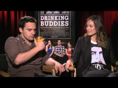 Olivia Wilde and Jake Johnson play a drinking game with Andrew Freund