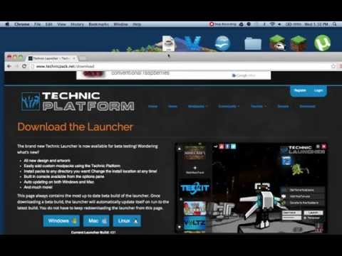 How To Download a Mod: Mac (Technic Platform)