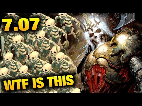Wraith King with Skeleton king in 7.07 Dota 2 Dueling Fates Update