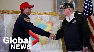 President Trump briefed on California wildfires, says 'it's total devastation'