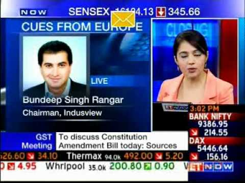 IndusView Chairman Bundeep S Rangar on ET Now