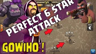 Perfect 6 Bintang di Clan War TH 9 [GOWIHO]