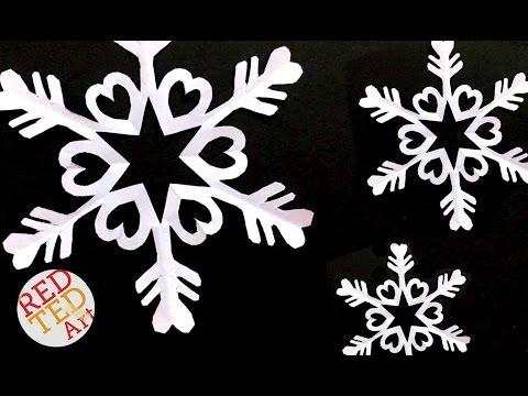 Бумажные снежинки - шестиконечные снежинки