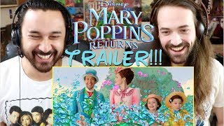 MARY POPPINS RETURNS | Official TRAILER REACTION!!!