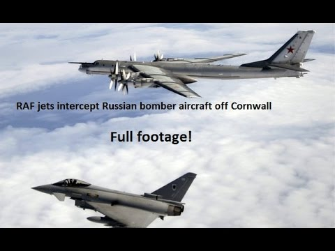 RAF jets scrambled after Russian bombers seen off Cornwall - Full Footage HD