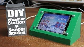 DIY Weather Station & WiFi Sensor Station    ESP8266, Nextion LCD
