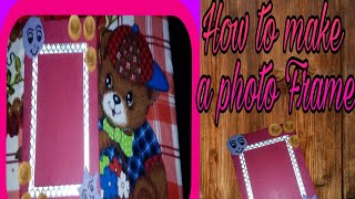 ## How to make a Photo frame with cardboard DlY beautiful carft Photo frame ||Art gallery|| ##