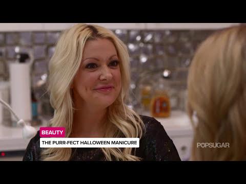 Black Cat Nail Art Manicure For Halloween | Celebrity Secret Weapon