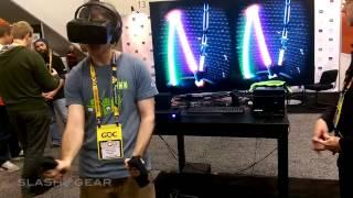 Sixense STEM System VR lightsaber demo hands-on