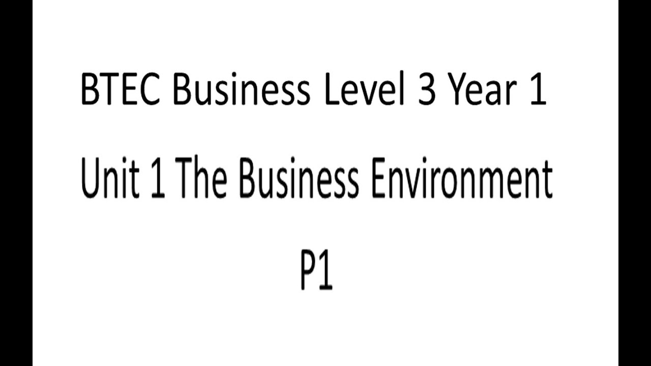business btec unit 16 Unit 16 btec level 2 year 11 home class calendar  assignment - p1, p2, m1, d1  organisational structure is the way a business is organised it's about how .