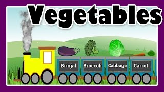 Vegetable Song with Vegetable Train for Children, Preschool Learning by JeannetChannel