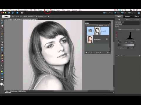 Creating a high key image in post using Adobe Photoshop Elements 10