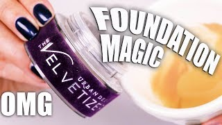MIXING LOOSE POWDER IN LIQUID FOUNDATION?!! AMAZING RESULTS!!! OMG!!!