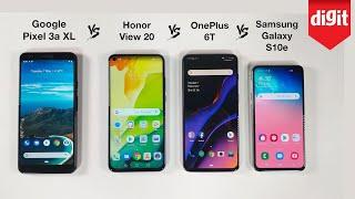Pixel 3a XL vs Honor View 20 vs OnePlus 6T vs Samsung Galaxy S10e: Performance Comparison