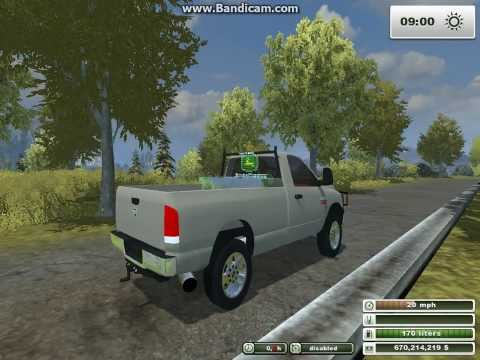 Farm Simulator 2013 American Trucks. Chevy 3500 & Dodge 2500!!