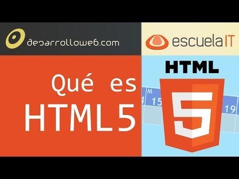 Qué es HTML5 - Primera clase del curso gratuito completa