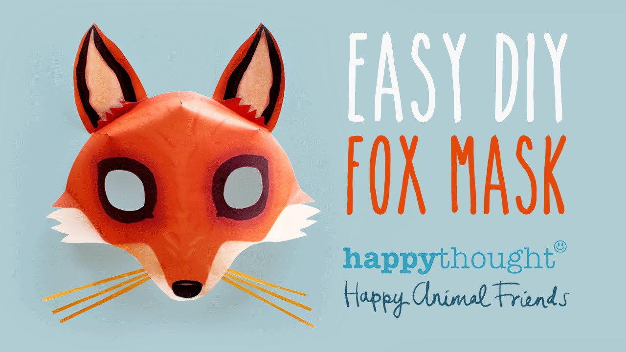 Free diy fox mask template and tutorial make your own 3d for Fantastic mr fox mask template