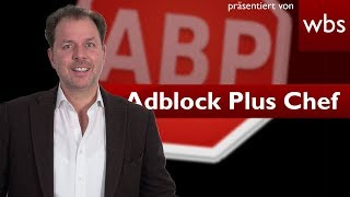 Interview mit Adblock Plus Chef Tim Schumacher | RA Christian Solmecke