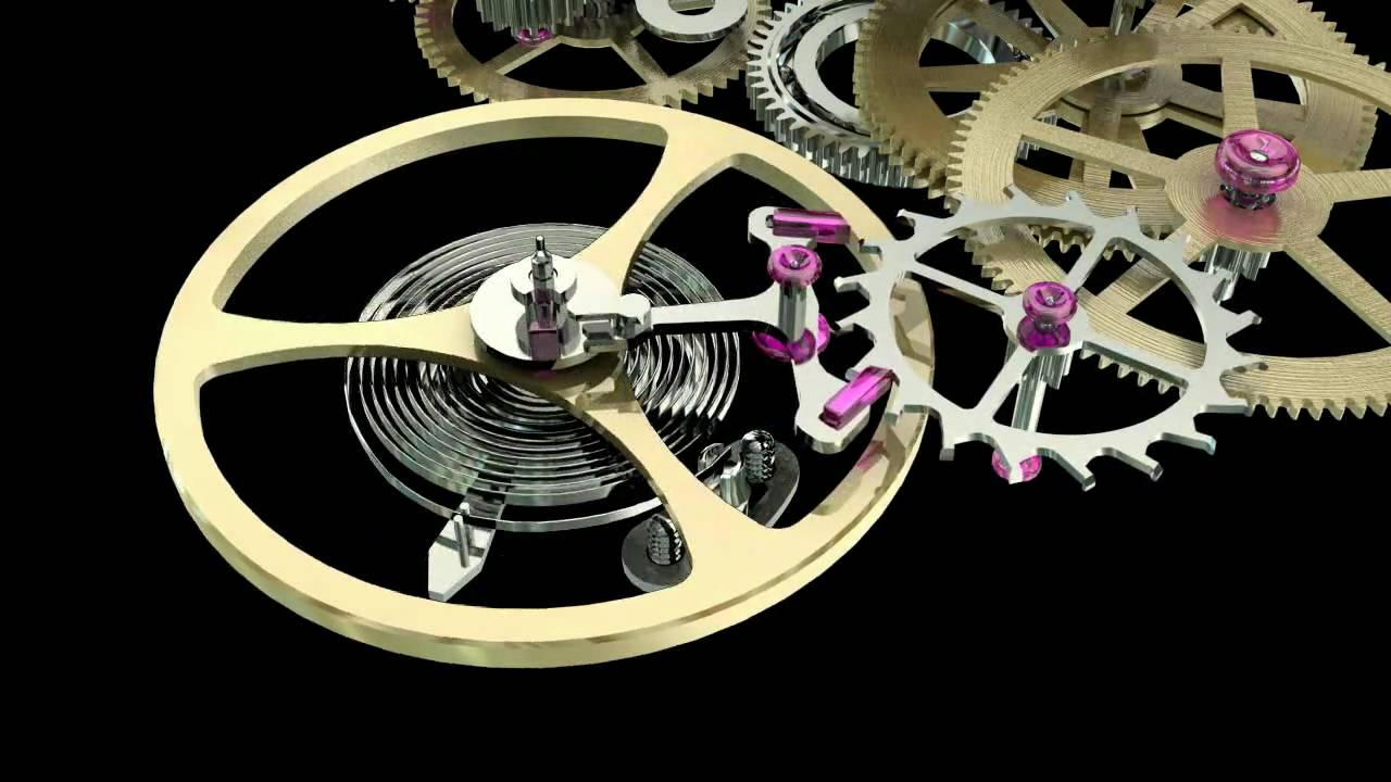 Intro about gear train of wristwatch youtube for Watches gear