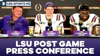LSU Post Game Press Conference: 2020 National Championship | CBS Sports HQ