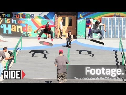 X Games 2012 Street Practice: Tony Hawk, Ryan Sheckler, Paul Rodriguez & More