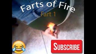 Tyler lights his fart