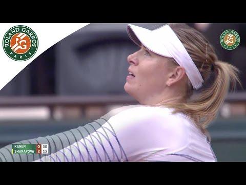 Maria Sharapova v. Kaia Kanepi 2015 French Open Women's R128 Highlights