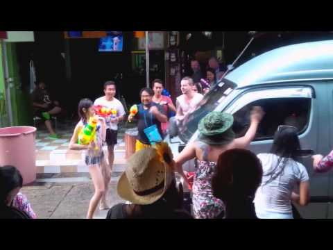 Songkran festival, Pattaya, Soi 7, April 13, 2015